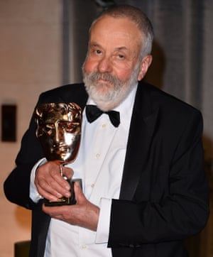 Happy chappy … Mike Leigh