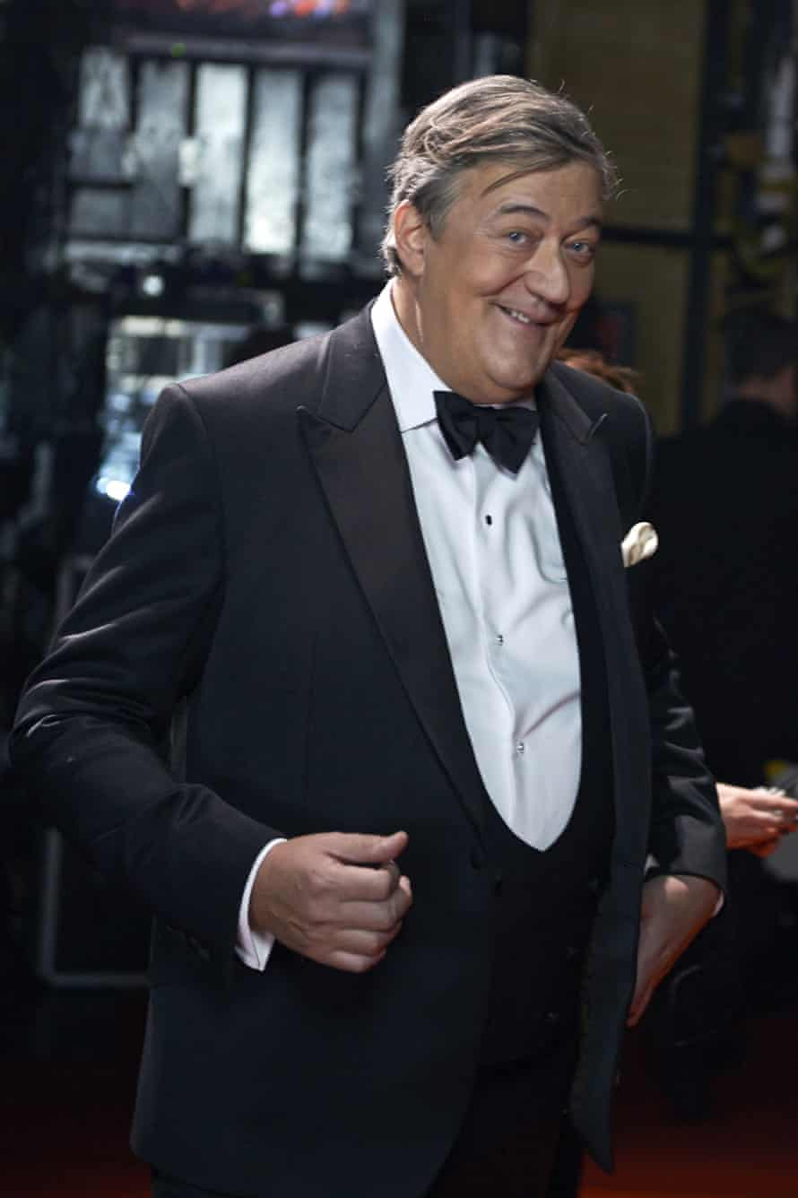 Stephen Fry backstage at the Baftas.