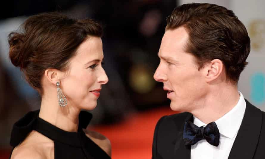 The night's big story …love. Red carpet Cumberbatchs.
