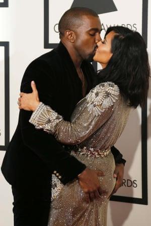 Kanye West Kim Kardashian grammys