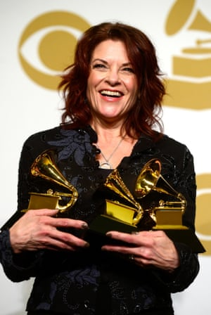 Singer-songwriter Rosanne Cash, winner of best American roots performance and best American roots song for A Feather's Not a Bird. Cash also won best Americana album for The River & the Thread.