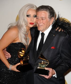 Lady Gaga and Tony Bennett win traditional pop vocal album for Cheek To Cheek.