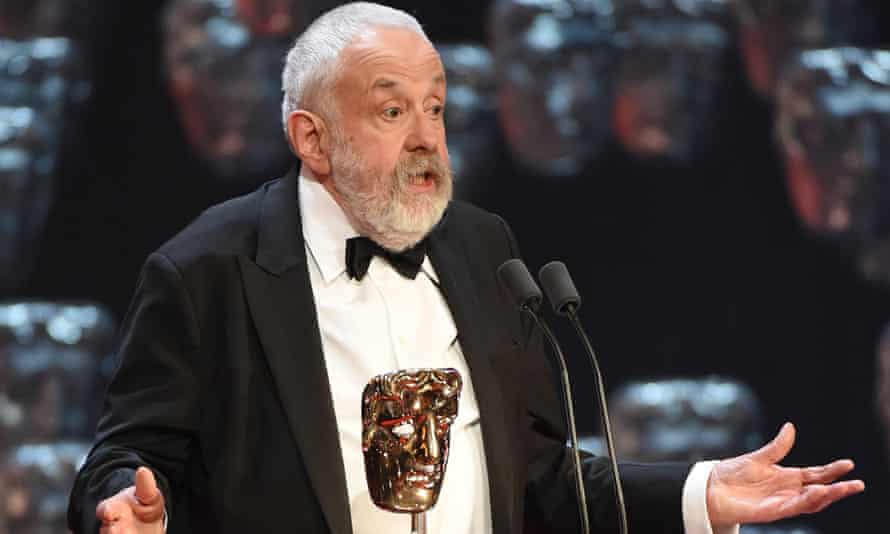 Mike Leigh at the Baftas.