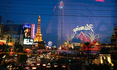 The Las Vegas Strip, one of the most visited places on Earth.