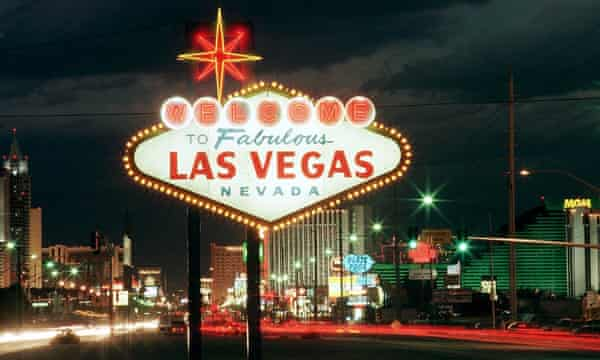 The Strip's legendary 'Welcome to Las Vegas' sign.