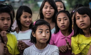 Girl determined in Burma