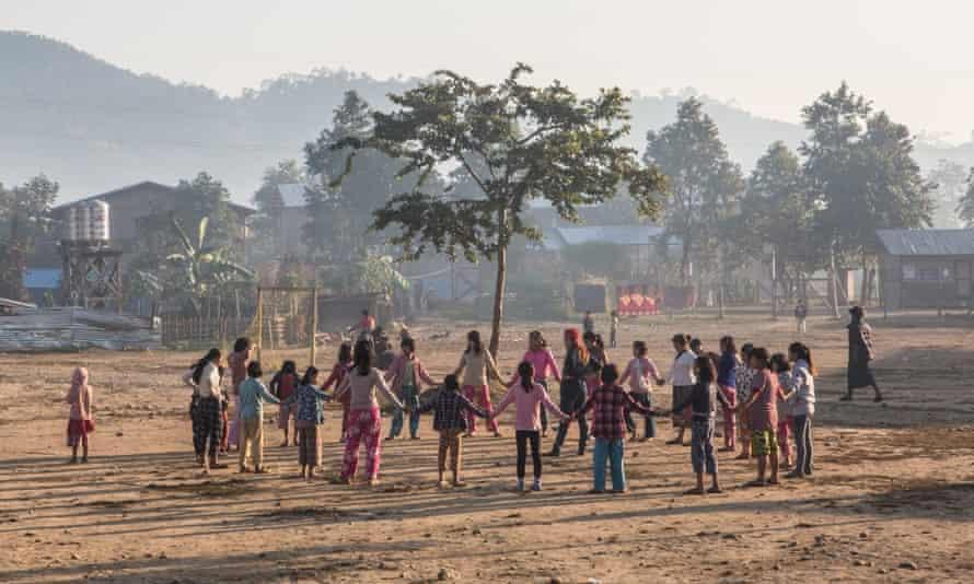 Girl determined in Burma
