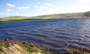 Wind and waves on  Loch of Tingwall, Mainland, Shetland Islands, Scotland