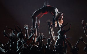 Madonna in her Grammy Awards performance