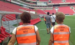 Recife have employed fans mothers as stewards.