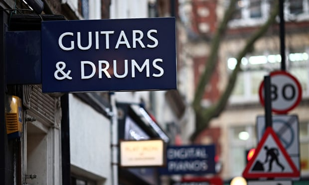 Denmark Street on the outskirts of Soho, London's 'Tin Pan Alley': English Heritage says that it has