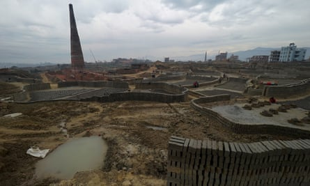 Bhramhayani Mata brick factory, in Bhaktapur, near Kathmandu. Bricks from the factory, or one of its partner factories, have been used to build a humanitarian staging area for the World Food Programme, with funding from DfID.