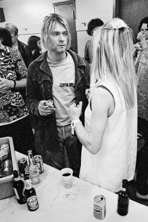 Kurt Cobain and Kim Gordon