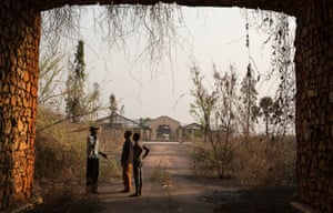 Gbadolite: the entrance to the private palace of President Mobutu