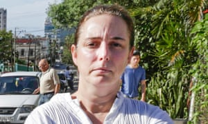 Cuban performance artist Tania Bruguera poses for a picture in Havana in December 2014 after being released from a police station
