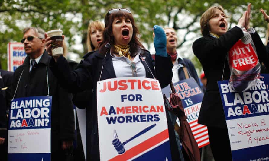 union protests american airlines