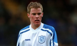 Iain Hume pictured in 2001, during his first spell at Tranmere Rovers.