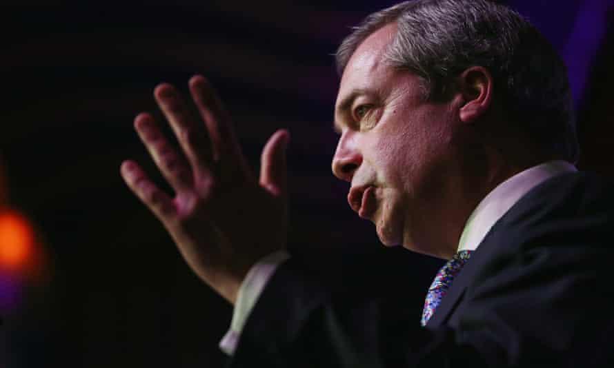 Nigel Farage speaks to delegates at the Ukip conference.
