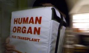 A special cool box for transporting human organs.