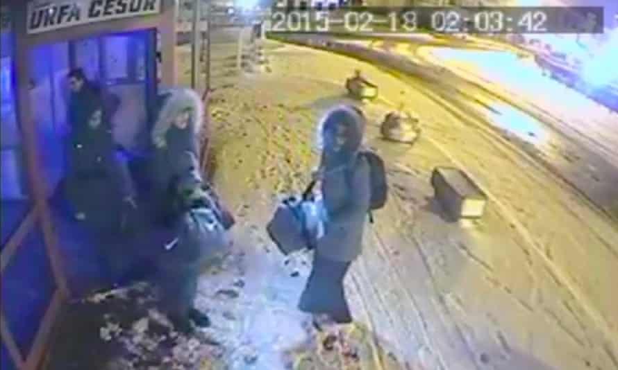 CCTV images of Shamima Begum, Kadiza Sultana and Amira Abase at a bus station in Istanbul
