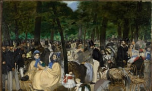 Music in the Tuileries Gardens by Edouard Manet, 1862.