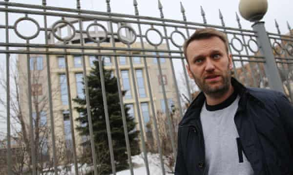 Alexei Navalny seen after a court hearing into his appeal against a15-day jail sentence, in Moscow.