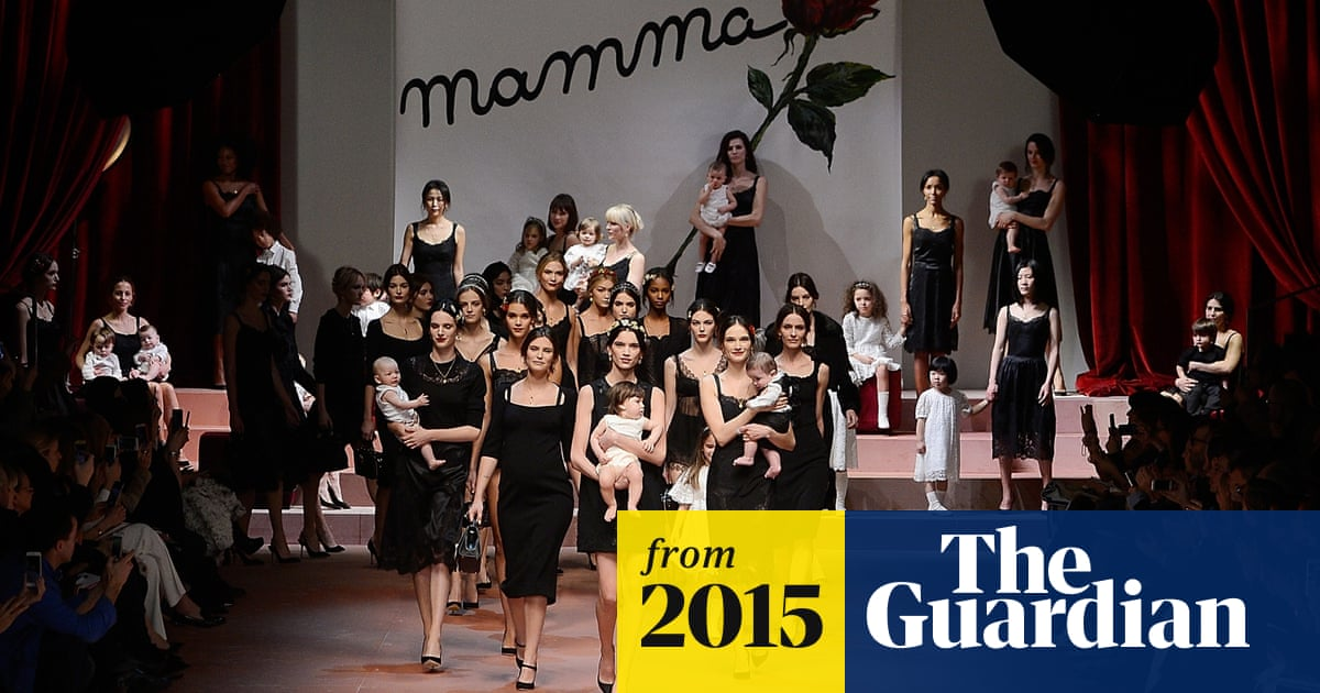 Dolce Gabbana Celebrates Motherhood At Milan Fashion Week Dolce Gabbana The Guardian