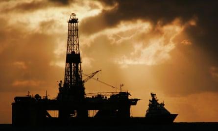 Oil rig Scotland