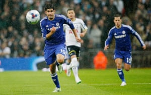 Costa chases down the ball.