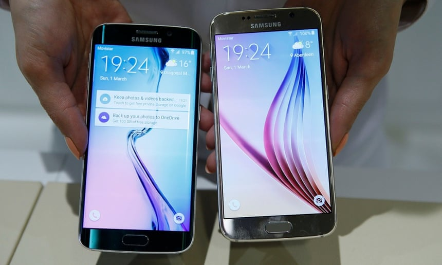 Samsung Galaxy S6 edge and Galaxy S6 smartphones
