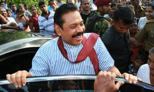 Sri Lanka's former president Mahinda Rajapaksa was thrown out of office in a surprise election result in January. His brother has now been banned from leaving the country over an arms investigation.