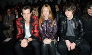 Mark Ronson, Josephine De La Baume and Jake Bugg on the frow at Saint Laurent
