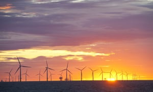 A UK offshore windfarm. The US's first commercial one now looks likely to be built later this year.