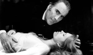 Christopher Lee and Joanna Lumley in The Satanic Rites of Dracula (1973)