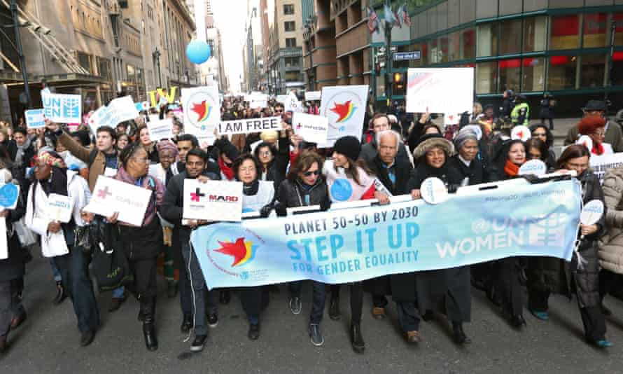 Planet 50-50 by 2030: thousands marched through Manhattan on 8 March to show solidarity for the global women's movement.