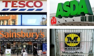 The 'big four' supermarkets are all losing market share to Aldi and Lidl.