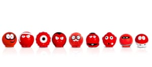 Line of red noses