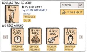 Tom Gauld illustration of H is for Hawk