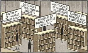 Tom Gauld illustration of library