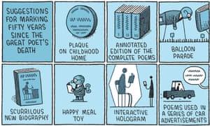 Tom Gauld illustration of poets