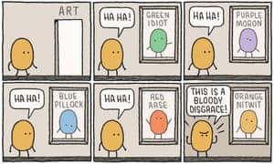 Tom Gauld illustration of art