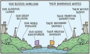 Tom Gauld illustration of ships