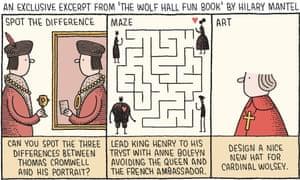 Tom Gauld illustration of Wolf Hall