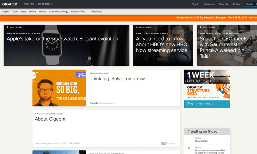 The Gigaom tech blog is to cease operations after nine years