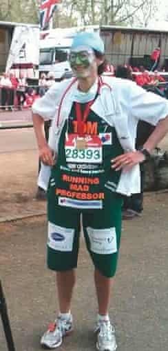 Professor Tom Solomon on a charity marathon