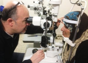 Dr Entabi working in Syria