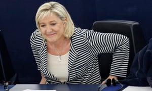 The Front National leader, Marine Le Pen
