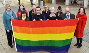 Members of the Essex LGBT alliance