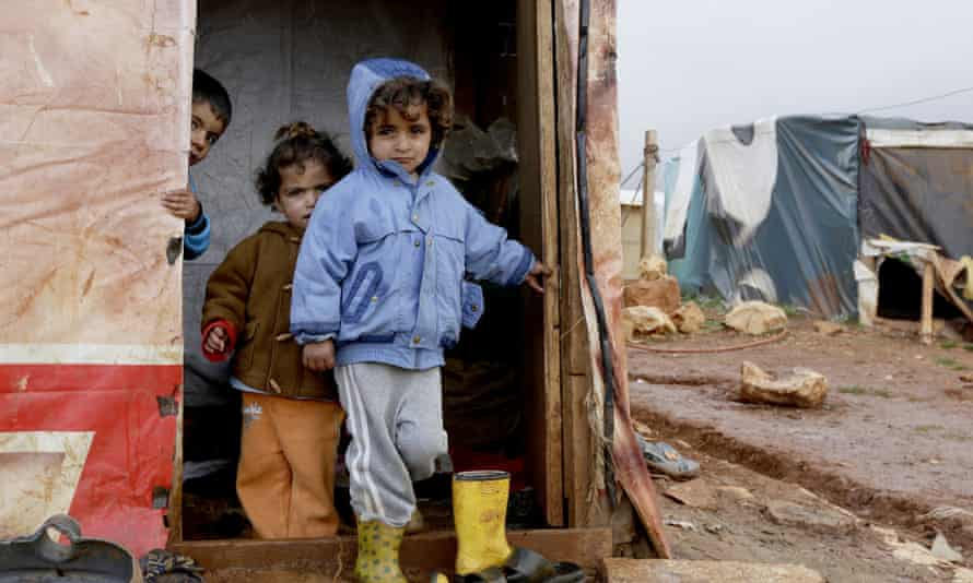 Children who fled the violence in Aleppo