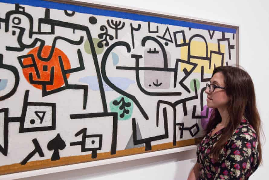 Paul Klee's Rich Harbour, 1938, on show at Tate Modern, London, in 2013.